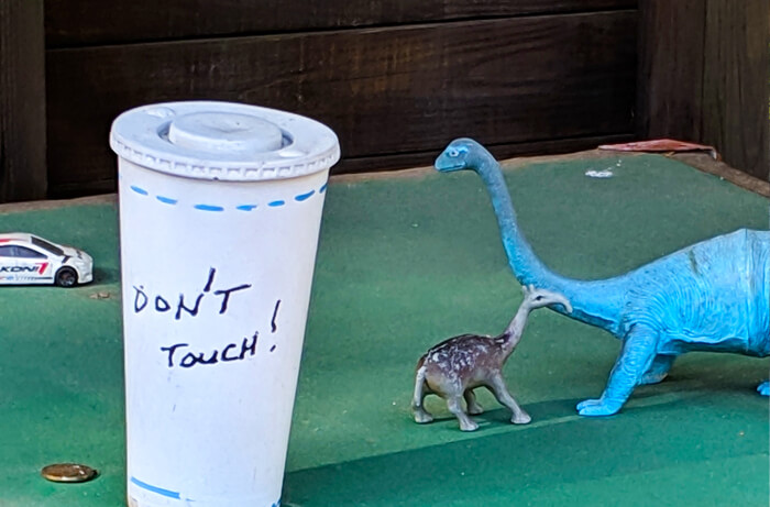 Don't touch cup