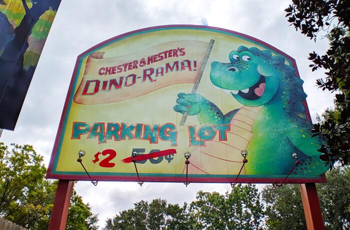 Dino-Rama parking