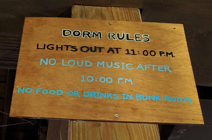 dinoland dorm rules